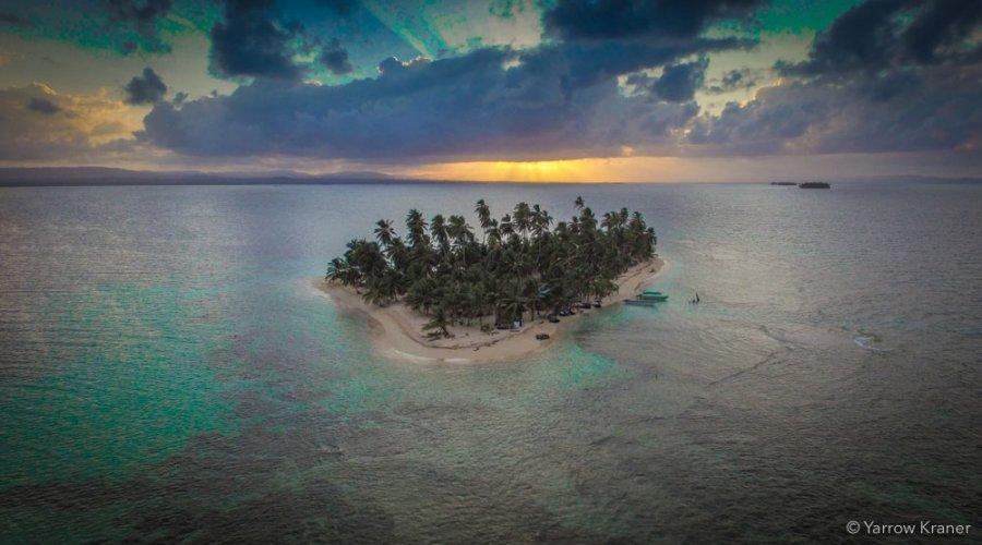 Sunset on Isla Iguana, San Blas Islands