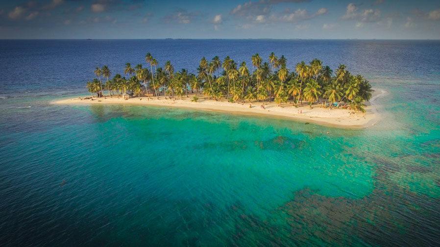 11Isla Iguana in the San Blas Islands, Panama from above